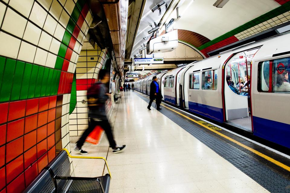 London tube stop