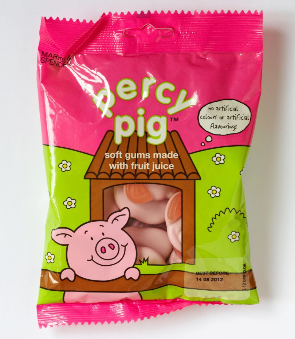 Percy Pig sweets